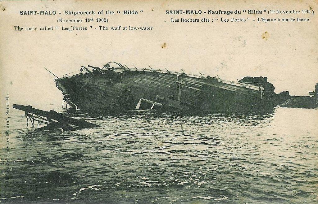 L'épave du Hilda près de Saint-Malo
