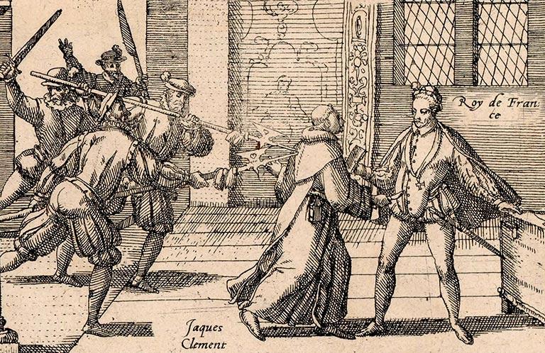 Assassinat Henri III par le moine Jacques Clément
