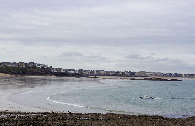 La plage du Pont à Rothéneuf (Saint-Malo)