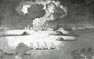 Explosion de la machine infernale à Saint-Malo en 1693