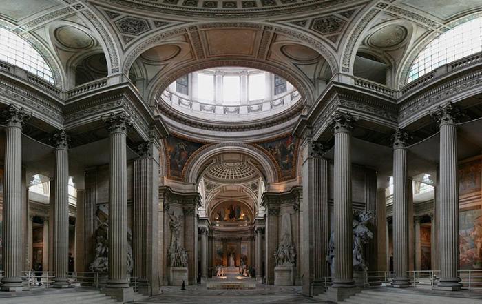 Intérieur du Panthéon (vue panoramique)