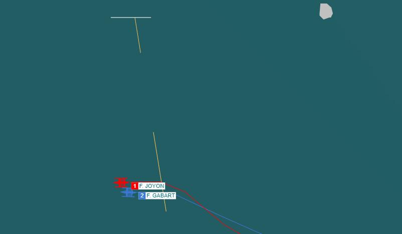 IDEC et MACIF bord à bord lors de la Route du Rhum 2018