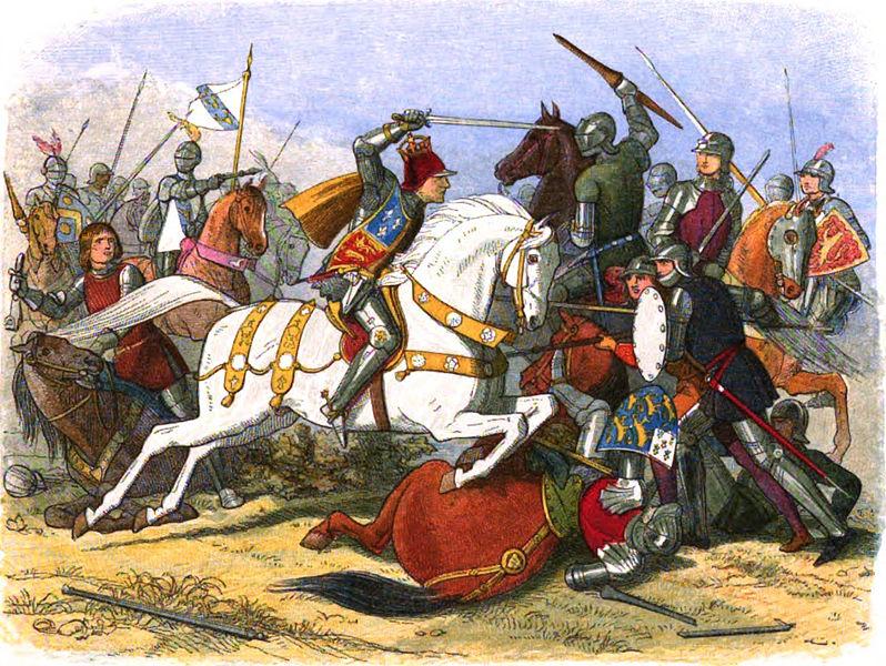 Richard III lors de la bataille de Bosworth en 1485