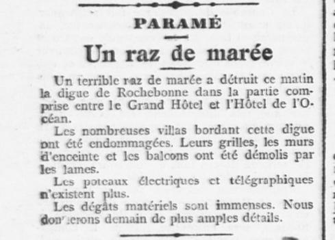 L'Ouest-Éclair 31 octobre 1905