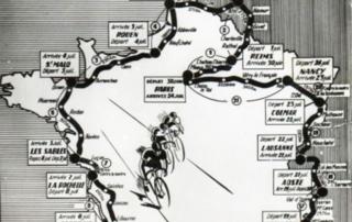 Carte Tour de France 1949 (zoom Bretagne)