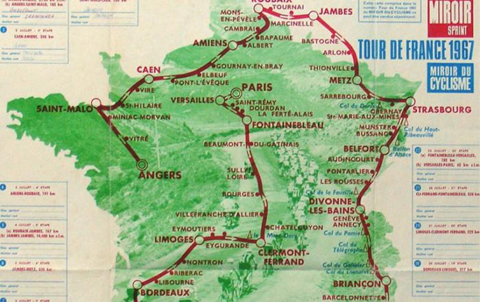 Carte du Tour de France 1967