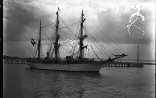 Le Pourquoi Pas au Havre, mission Charcot, 15 août 1908